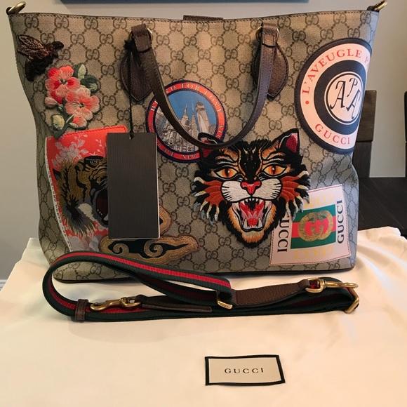 b2d4cb4e8b97 Gucci Bags   Courrier Soft Gg Supreme Tote Ntw Authentic   Poshmark